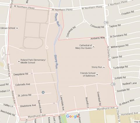 Map of Wyndhurst Neighborhood